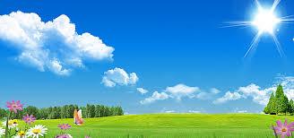 green grass blue sky. Beautiful Green Blue Sky And Green Grass On Green Grass Sky