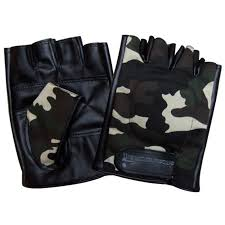 china men s fashion fingerless camouflage pu leather driving sports gloves yky5023 china gloves driving gloves