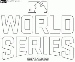 Kleurplaat Logo Van De Mlb World Series Kleurplaten