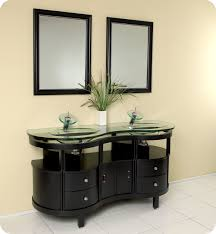 fresca unico double sink bathroom vanity w tempered glass counter and sink