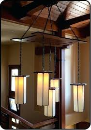 chandelier beautiful craftsman style pendant in a grand foyer than large
