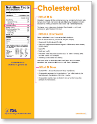 Cholesterol In Seafood Chart Nutrition Facts Label Cholesterol