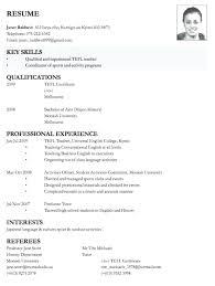 Sample Curriculum Vitae For Job Application Sample Resume For Job Application Format Applying Download Of