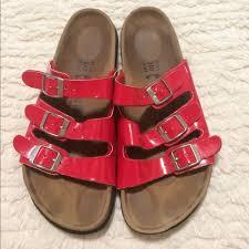 Betula Size Chart Birkenstocks Betula Red Triple Straps Shoe Sz 37