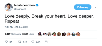 Actor noah centineo says learning you can impact real change is the reason why he's voting for the first time in a us election. Noah Centineo Love Advice As Told By His Tweets