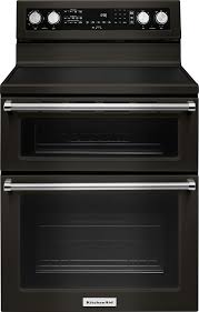 kitchenaid 6 7 cu ft self cleaning freestanding double oven electric convection range