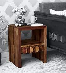 avilys solid wood end table in