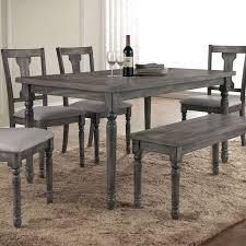 Gray kitchen table White Trespasaloncom Table Weathered Gray Dining Round Set Grey And Chairs