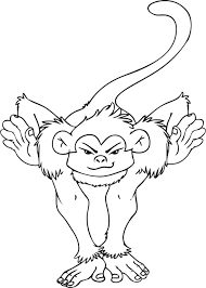 The smallest monkey in the world is the pygmy marmoset, with a body as little as 5 inches (12 cm) and a tail length of about 7 inches (17 cm). Free Printable Monkey Coloring Pages For Kids