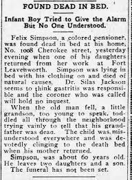 Felix Simpson - obit - interment Bethel Cemetery 1905 - Newspapers.com