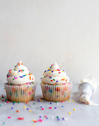Birthday Cake Cupcakes With Sprinkles Small Batch Recipe Dessert