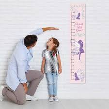 Canvas Height Chart Fairy Canvas Height Growth Chart Girls Personalised Design Add Name Dob Ebay