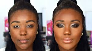 color correction makeup tutorial flawless foundation routine for dark skin 2016 you