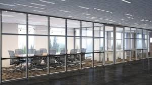 glass modern office solid wall partition height 8 10 feet thickness