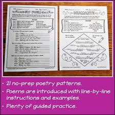 Poem Patterns Extraordinary Poetry Writing 48 Poem Patterns Plus Poetry Unit Tips And Ideas