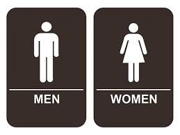 Image Braille Restroom Ada Braille Mens And Womens Bathroom Sign Set In In Brown Custom Signs Men Womens Bathroom Sign Set Adacompliant Tactile Braille