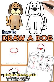 cute dogs drawings step by step. Exellent Cute How To Draw A Dog  Step By Dog Drawing Tutorial That Will Show You With Cute Dogs Drawings Step By E