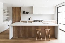 White wood kitchen Pinterest Sleek Modern Kitchen In White Wood Decordots Decordots Sleek Modern Kitchen In White Wood