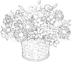 Flowers Coloring Pages Print Cremzempme