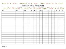 Free Printable Bill Payment Schedule Monthly Payment Schedule Template Grantlewis Me