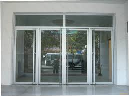 glass and aluminum doors