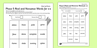 A digraph is two letters that make up one sound, for example: Phase 5 E E Split Digraph Color By Phoneme Real And Nonsense Words