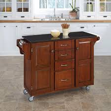 Granite Kitchen Cart Home Styles Create A Cart Cherry Kitchen Cart With Black Granite