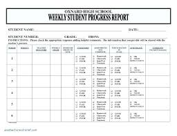 Progress Report Card Template Mesmerizing Progress Report Template Doc Grade Card R Format Danilenko