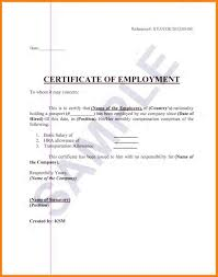 Sample Format Of Employment Certificate With Compensation 18