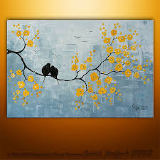 modern paintings of birds abstract painting birds painting large painting tree