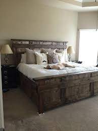 rustic wood bed frame. Delighful Frame DIY Rustic King Sized Bed Diy Headboard Wood Bed Frame  Barnwood Beds On Frame