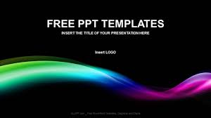 wave powerpoint templates colored wave abstract ppt templates download free