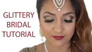 glittery indian bridal makeup