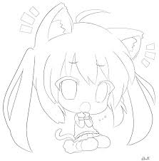 Remarkable Cute Cat Coloring Pages Latest Anime Girl Coloring Pages