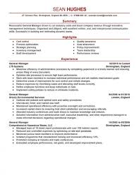 Resume Templates General Manager Page 1 Exceptional Hotel Objective