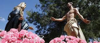 Resultado de imagen de Aparición de Jesús Resucitado a la Virgen