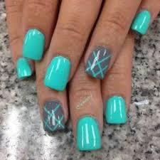 Blue Nail Art Nails Pinterest Uñas Azules Uñas Verde Agua A