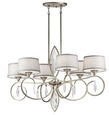 kichler 43569sgd casilda six light chandelier sterling gold