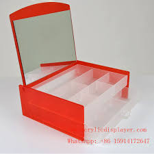 whole acrylic makeup organizer with drawers
