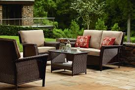 7 piece outdoor dining set clearance beautiful lazy boy wicker patio furniture replacement cushions patio designs