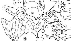 Rainbow Fish Coloring Pages Fantasy Preschool Sheet To Print For