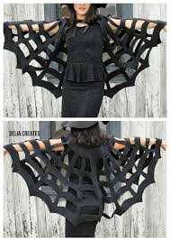How To Make A Giant Spider Web No Sew Halloween Spiderweb Cape Tutorial The Kids Version Is