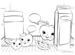 Small Picture Baby Alive Coloring Pages Kawaii Fruits Get Coloring Pages
