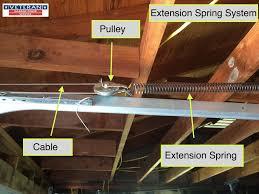 extension spring garage door