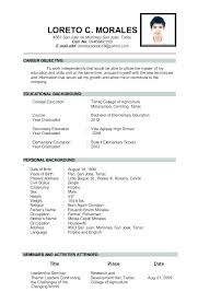 sample resume for a teacher samples of teachers resumes trezvost