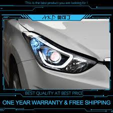 2012 Hyundai Elantra Running Light Bulb Us 458 38 18 Off Akd Tuning Cars Headlight For Hyundai Elantra 2012 2016 Headlights Led Drl Running Lights Bi Xenon Beam Fog Lights Angel Eyes In