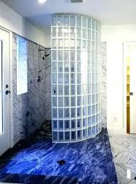 glass block shower kits s home depot stall wall