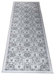 tayse majesty eliza ivory transitional area rug contemporary hall and stair runners by beyond s