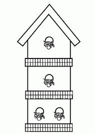 Small Picture Three Story Bird House Coloring Pages Best Place To Color