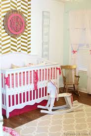 Tattered and Inked: Glamorous Gold & Pink Nursery Reveal